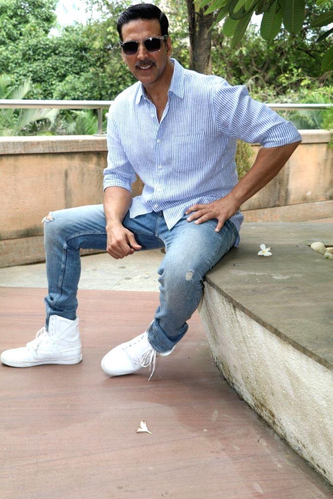 Actor Akshay Kumar during an Interview after the success of film Rustom in Mumbai on Aug 15, 2016. - Akshay Kumar