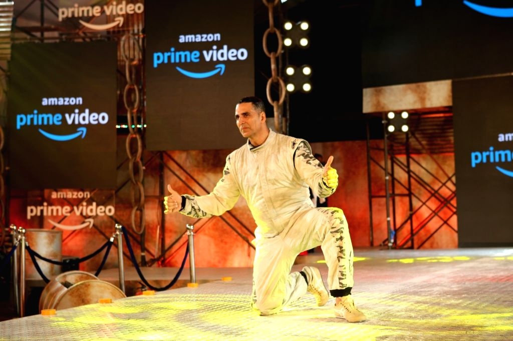 """Actor Akshay Kumar during the digital debut of his upcoming action-packed thriller series """"The End"""" with Amazon Prime Video, in Mumbai, on March 5, 2019. - Akshay Kumar"""