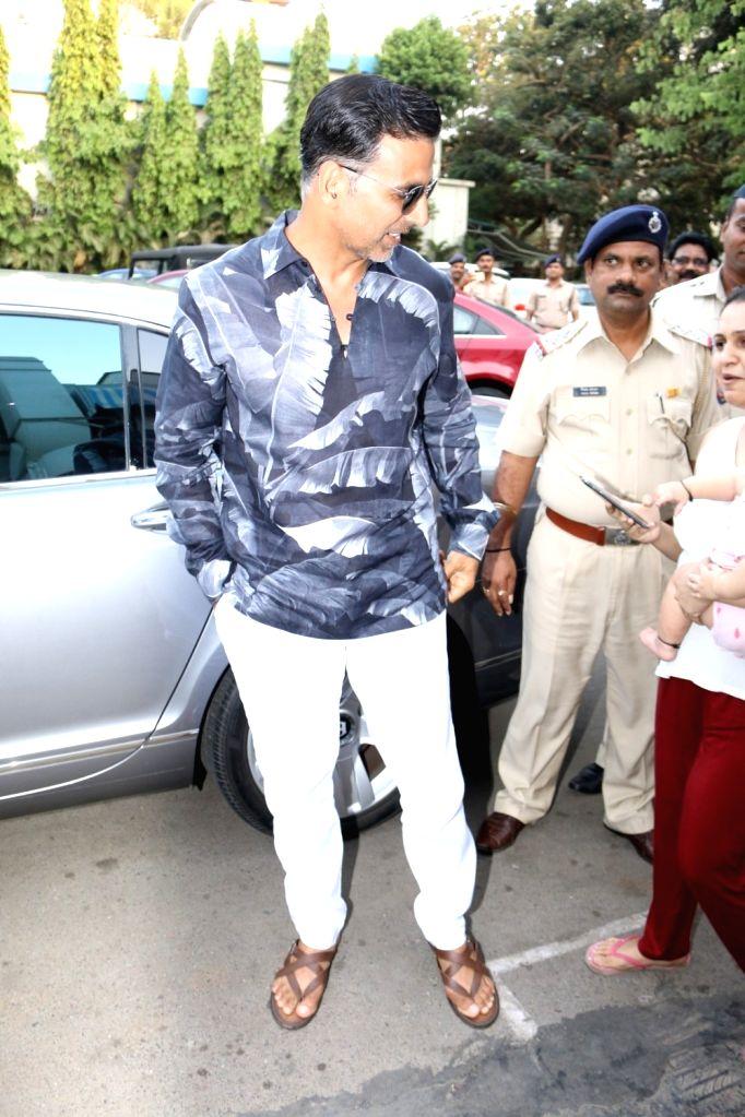 Actor Akshay Kumar during the launch of a book written by IPS officer K. Vijay Kumar on executed bandit Veerappan in Mumbai on April 19, 2017. - Akshay Kumar and K. Vijay Kumar