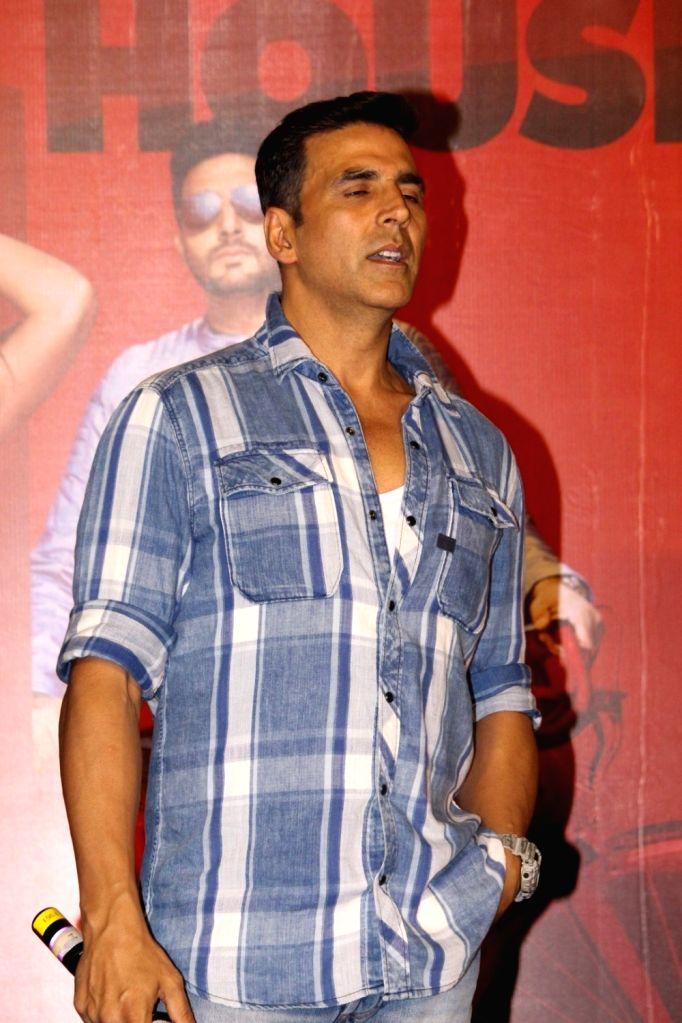 Actor Akshay Kumar during the press conference of film Housefull 3, in Mumbai, on June 2, 2016. - Akshay Kumar