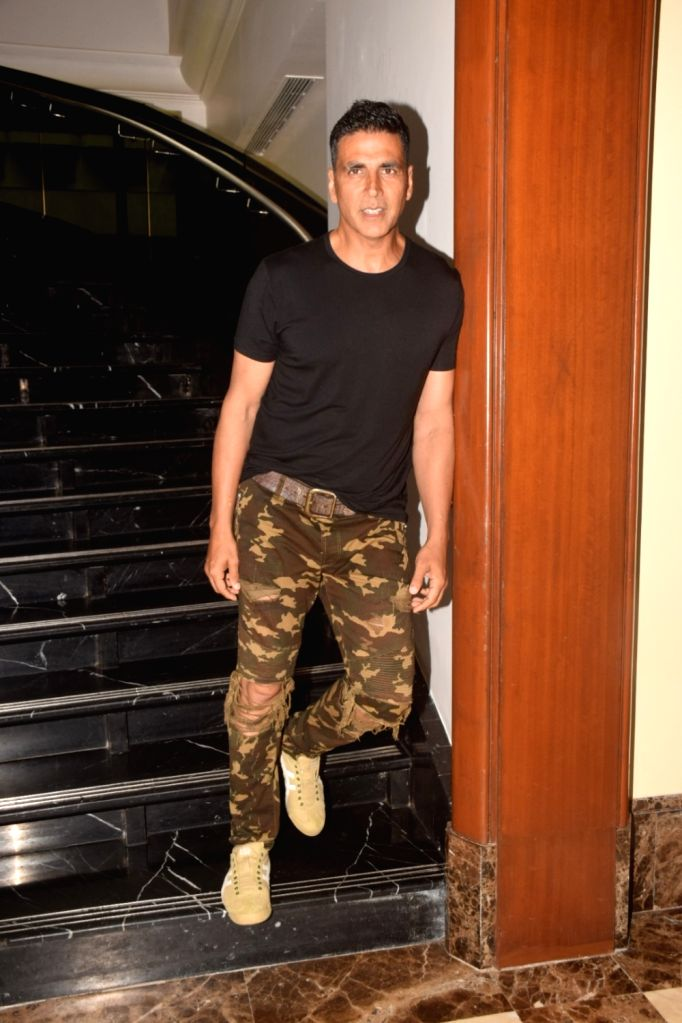 "Actor Akshay Kumar during the promotion of his upcoming film ""Gold"" in Mumbai on July 27, 2018. - Akshay Kumar"