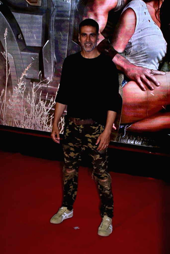 "Actor Akshay Kumar during the special screening of film ""Baaghi 2"" on March 29, 2018. - Akshay Kumar"