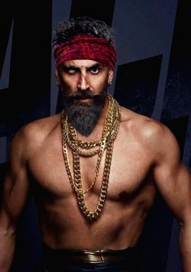 "Actor Akshay Kumar's new look from his much-awaited film ""Bachchan Pandey"". - Akshay Kumar and Bachchan Pandey"