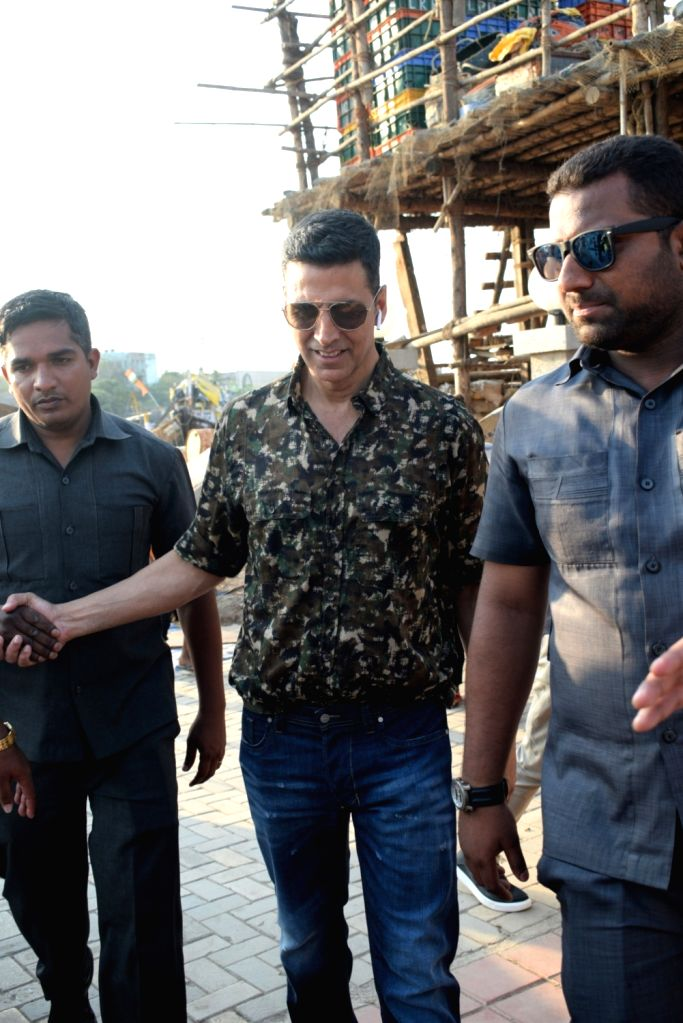 Actor Akshay Kumar seen in Mumbai's Madh Jetty, on April 25, 2019. - Akshay Kumar