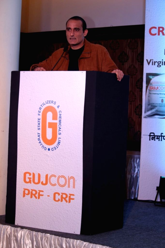 Actor Akshaye Khanna during the launch of Gujcon product. - Akshaye Khanna