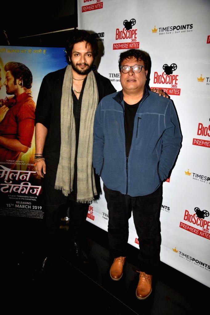 "Actor Ali Fazal and director Tigmanshu Dhulia at the special screening of their upcoming film ""Milan Talkies"", in Mumbai, on March 14, 2019. - Ali Fazal"
