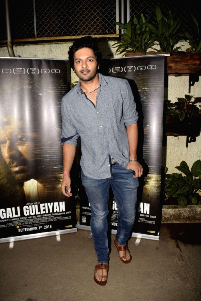 """Actor Ali Fazal at the special screening of upcoming film """"Gali Guleiyan"""", in Mumbai on Sept 3, 2018. - Ali Fazal"""
