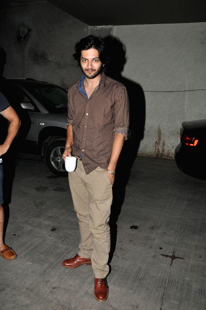 Actor Ali Fazal during the screening of film Amit Sahni Ki List at Lightbox in Mumbai on July 14, 2014. - Ali Fazal