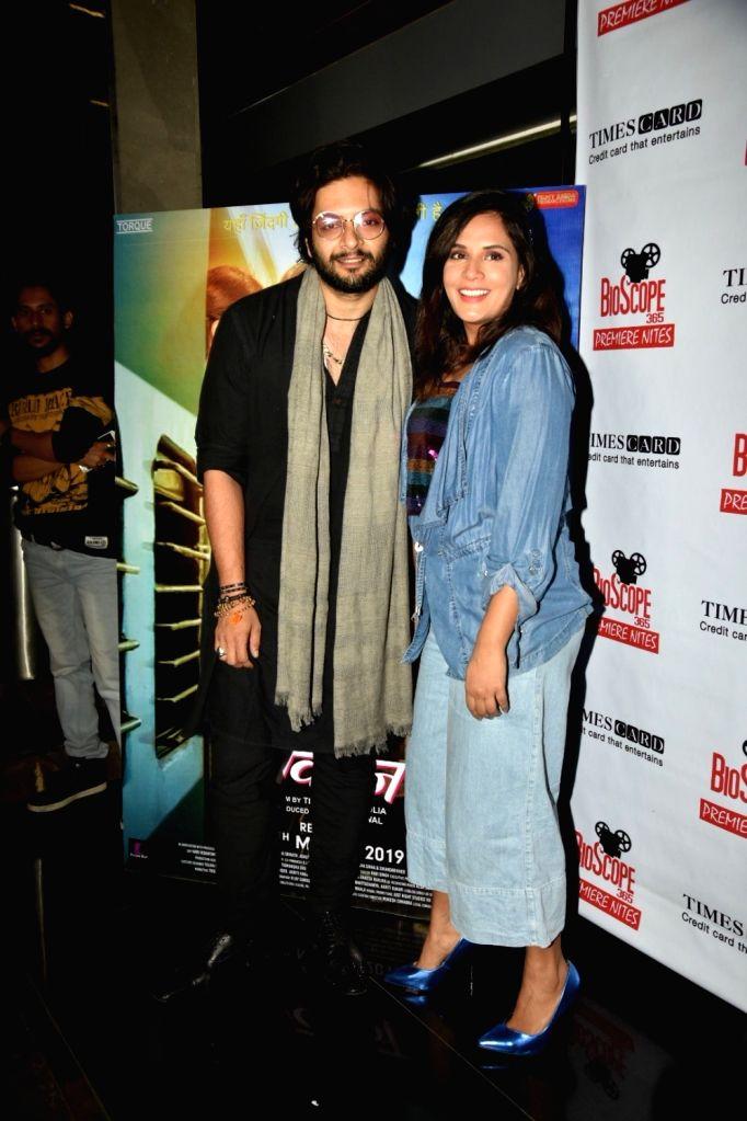 "Actor Ali Fazal with actress Richa Chadda at the special screening of his upcoming film ""Milan Talkies"", in Mumbai, on March 14, 2019. - Ali Fazal"