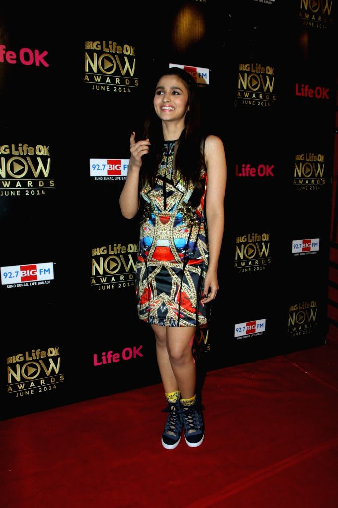 Actor Alia Bhatt during the Big Life OK Now Award 2014 in Mumbai on June 23, 2014. - Alia Bhatt
