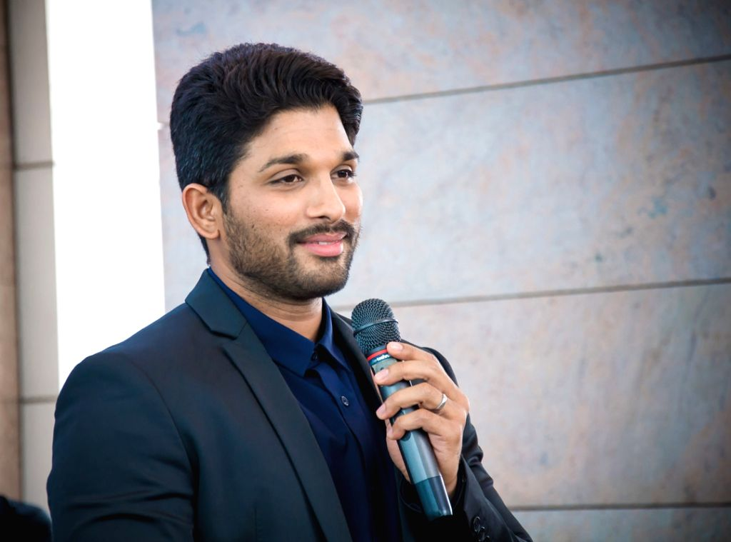 Actor Allu Arjun during a press meet of film Duvvada Jagannadham in Bengaluru. - Allu Arjun