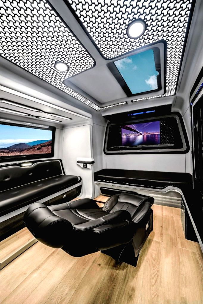 Actor Allu Arjun on Friday shared pictures of his new, highly sophisticated and upgraded vanity van with his followers on Twitter. - Allu Arjun