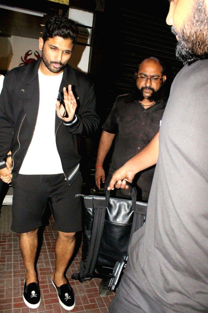 Actor Allu Arjun seen at Mumbai's Bandra on May 21, 2018. - Allu Arjun