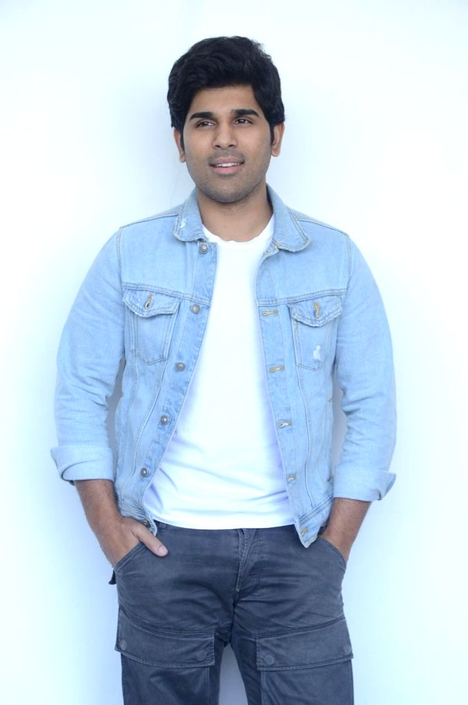 Actor Allu Sirish during the interview in Hyderabad. - Allu Sirish