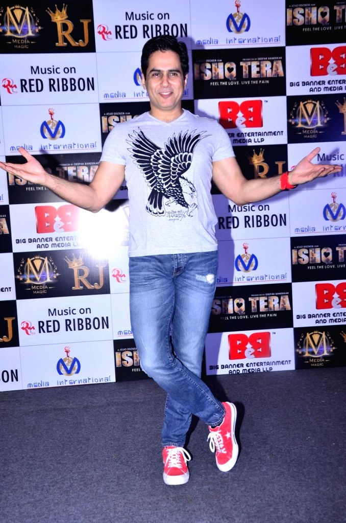 """Actor Aman Verma during music launch of upcoming film """"Ishq Tera"""" in Mumbai, on March 27, 2018. - Aman Verma"""