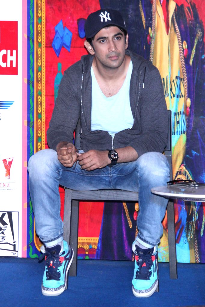 Actor Amit Sadh during a press conference of their upcoming film ``Guddu Rangeela`` in Gurgaon on June 29, 2015. - Amit Sadh