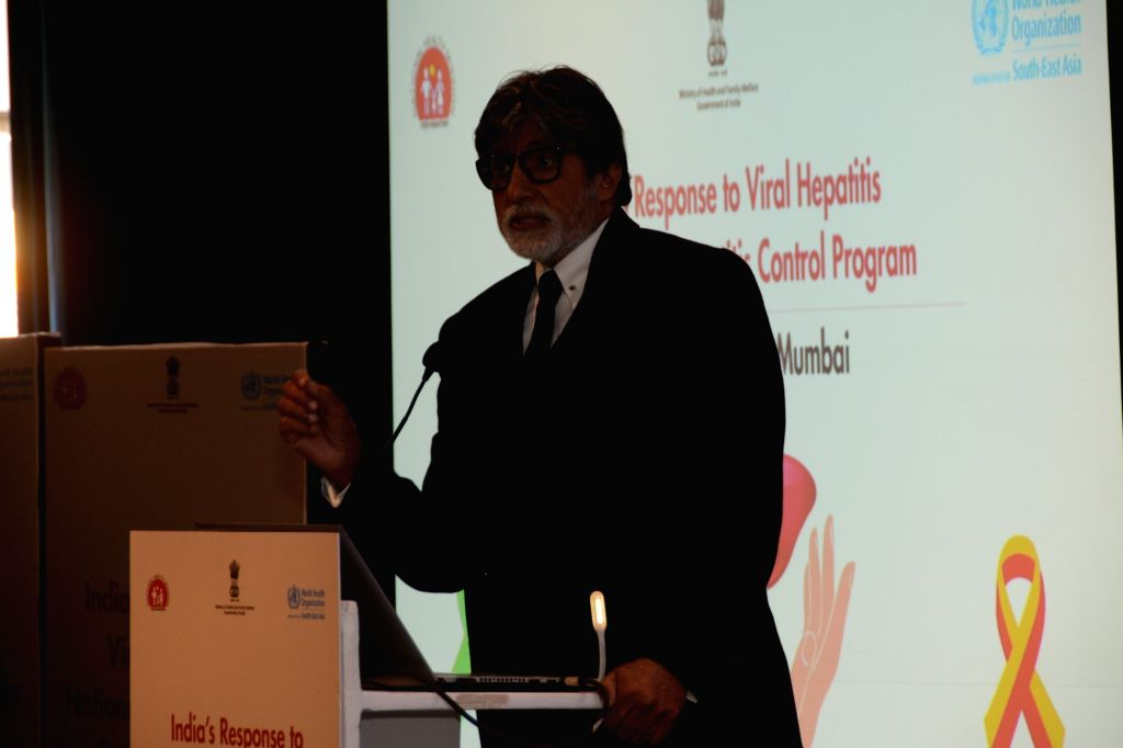 Actor Amitabh Bachchan addresses at the India's Response to Viral Hepatitis, National Viral Hepatitis Control Programme in Mumbai, on Feb 24, 2019. - Amitabh Bachchan