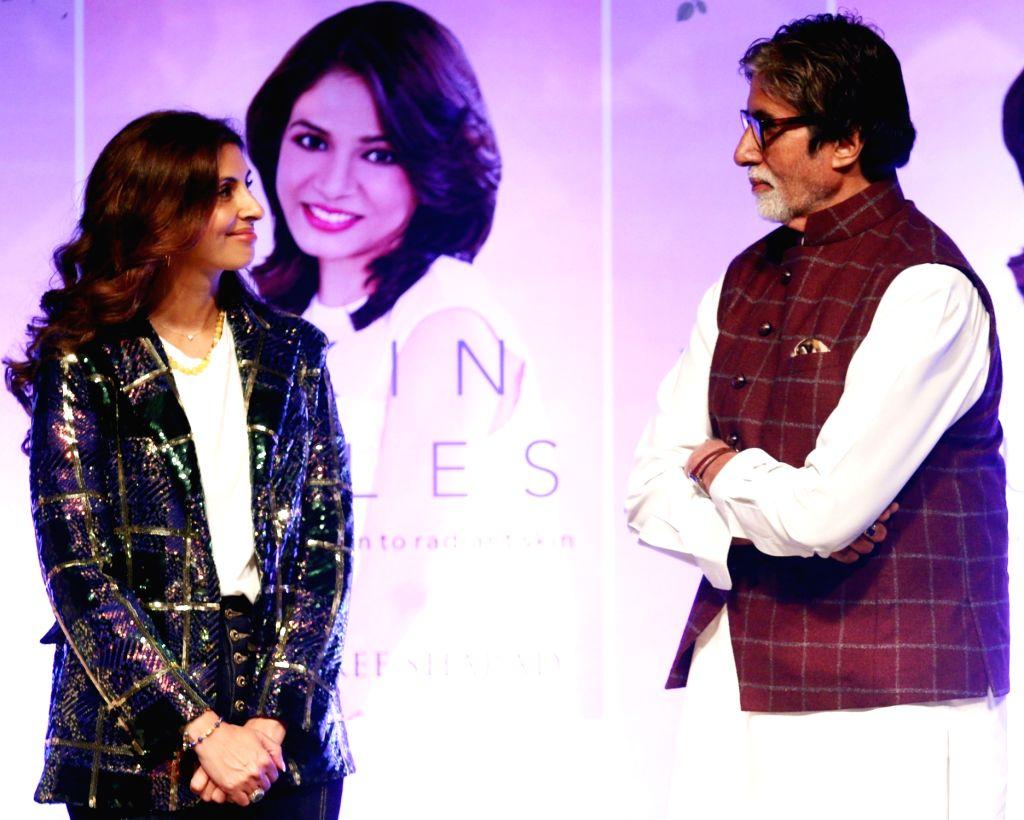 Actor Amitabh Bachchan along with his daughter Shweta Bachchan Nanda. (Photo: IANS) - Amitabh Bachchan and Shweta Bachchan Nanda