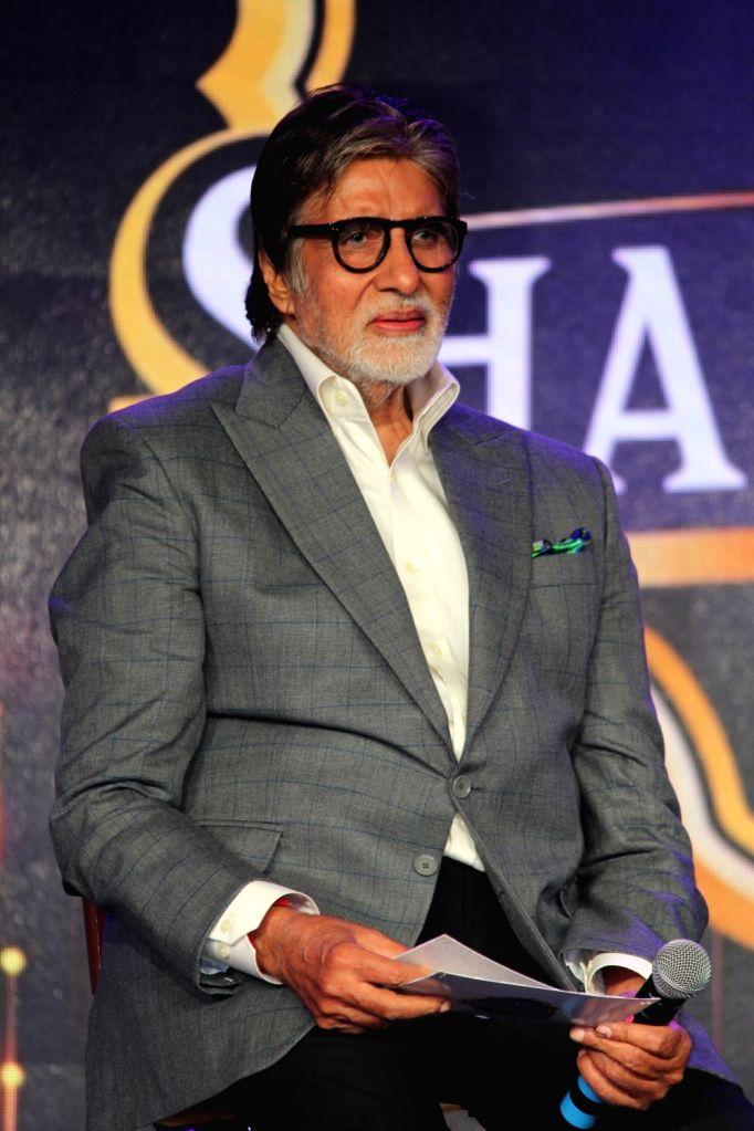 """Actor Amitabh Bachchan at """"GRADO Super Shahenshah Meet"""", in Mumbai on June 12, 2019. - Amitabh Bachchan"""