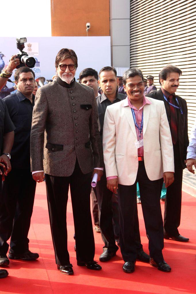 Actor Amitabh Bachchan at the inauguration of the 45th International Film Festival of India (IFFI-2014), in Panaji, Goa on Nov. 20, 2014. - Amitabh Bachchan