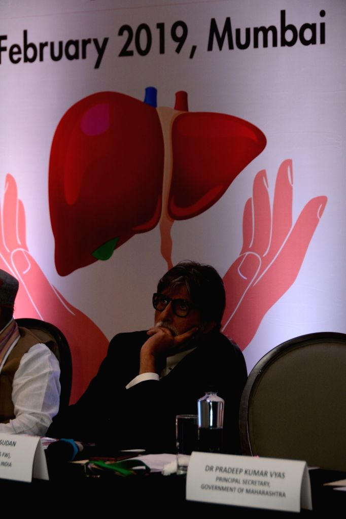 Actor Amitabh Bachchan at the India's Response to Viral Hepatitis, National Viral Hepatitis Control Programme in Mumbai, on Feb 24, 2019. - Amitabh Bachchan