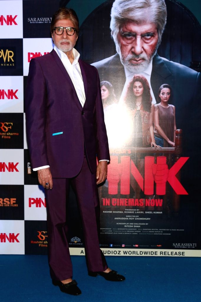 "Actor Amitabh Bachchan during a press conference to promote their film ""Pink"" in New Delhi on Sept 16, 2016. - Amitabh Bachchan"
