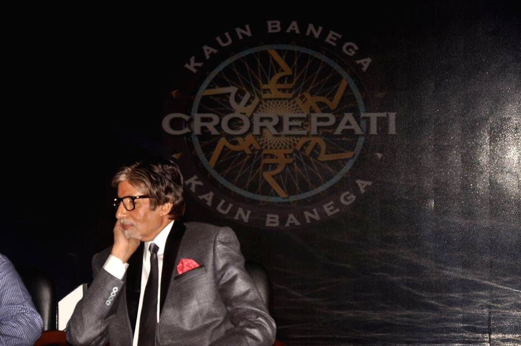 Actor Amitabh Bachchan during the announcement of the first crorepati of the reality game show Kaun Banega Crorepati (KBC), in Mumbai, on September 20, 2014. (Photo: IANS) - Amitabh Bachchan