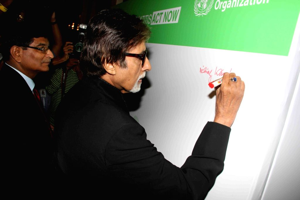 Actor Amitabh Bachchan during the event organised on the World Hepatitis Day by World Health Organisation (WHO), in collaboration with the Ministry of Health and Family Welfare (MoHFW), in ... - Amitabh Bachchan