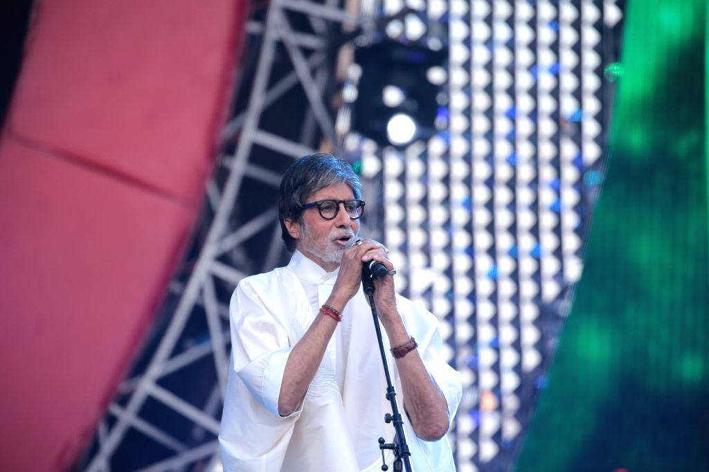 Actor Amitabh Bachchan during the Global Citizen Festival India 2016, in Mumbai on Nov 19, 2016. - Amitabh Bachchan
