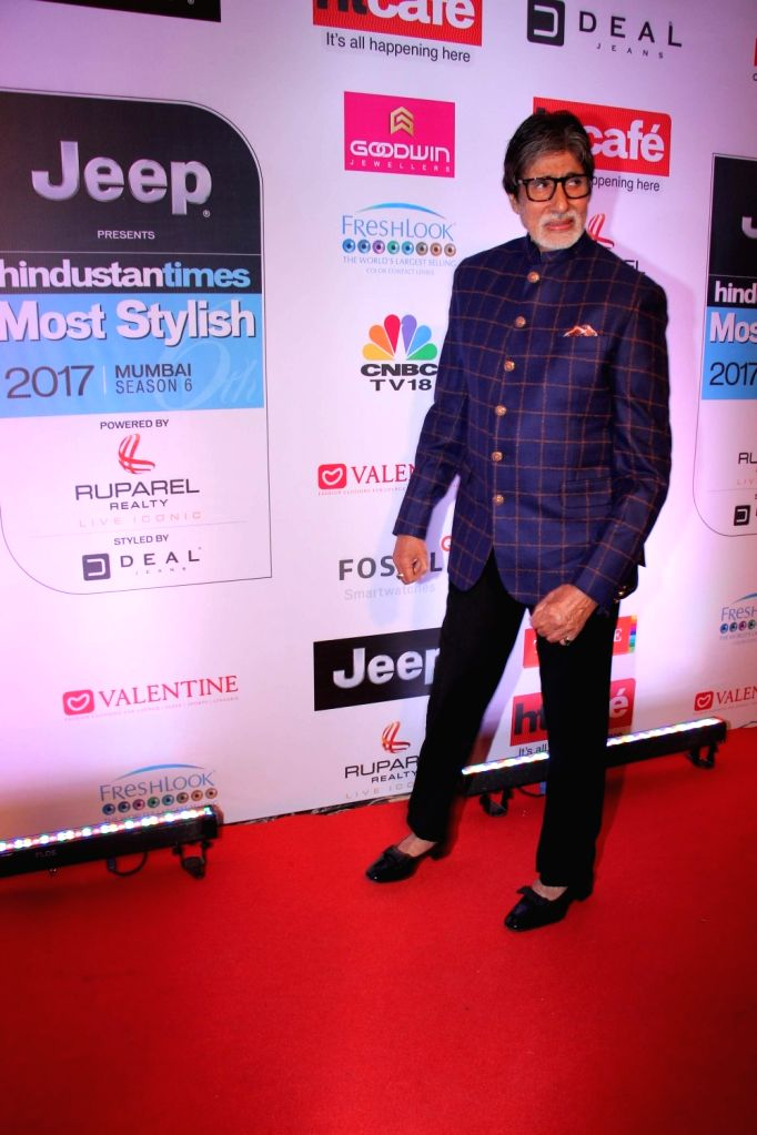 Actor Amitabh Bachchan during the HT Most Stylish Awards in Mumbai,  on March 24, 2017. - Amitabh Bachchan