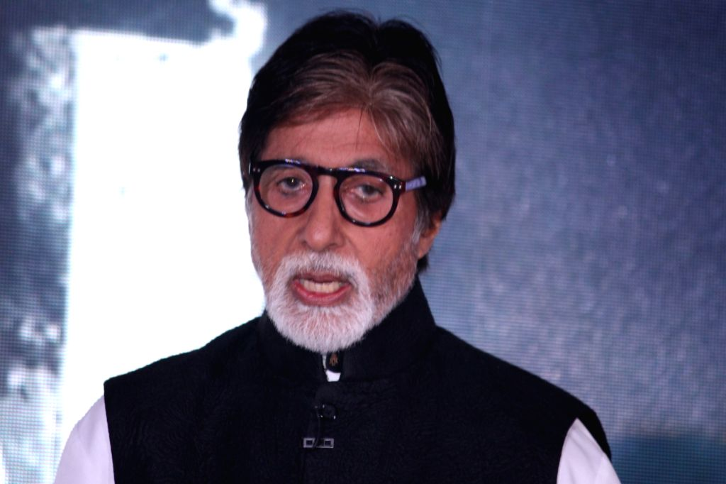 Actor Amitabh Bachchan during the music launch of film Te3n in Mumbai on May 27, 2016. - Amitabh Bachchan