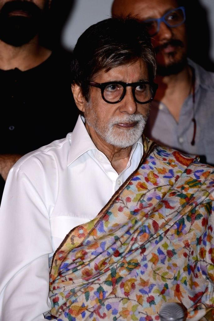 Actor Amitabh Bachchan during the press conference of the film Pink in Mumbai on Sept. 19, 2016. - Amitabh Bachchan