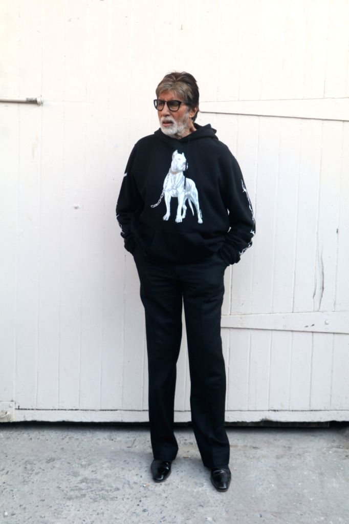 "Actor Amitabh Bachchan during the promotion of their upcoming film ""Badla"" in Mumbai on Feb 22, 2019. - Amitabh Bachchan"