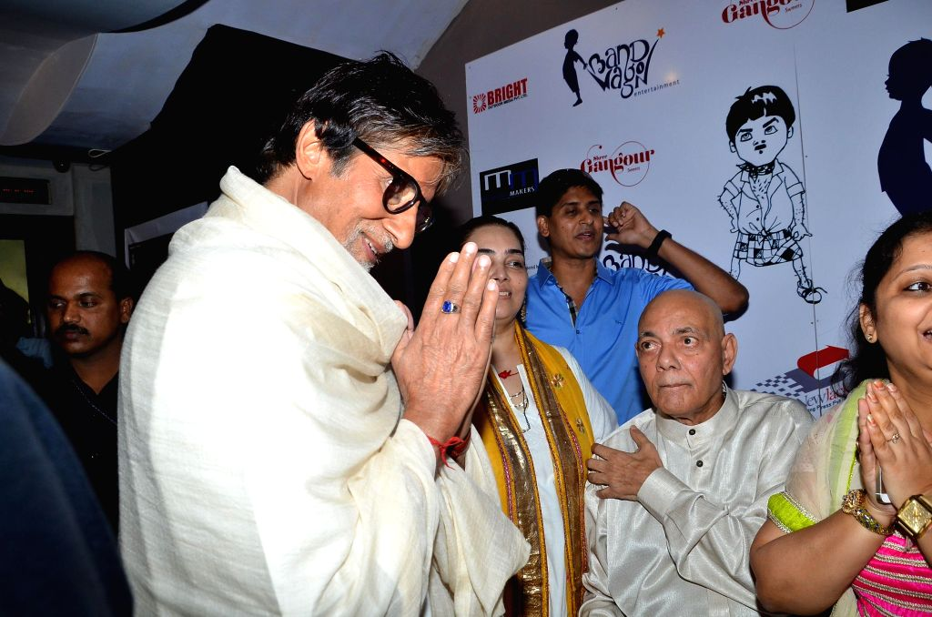 Actor Amitabh Bachchan during the special sceening of film Bombay to Goa at PVR in Mumbai on April 12, 2014.