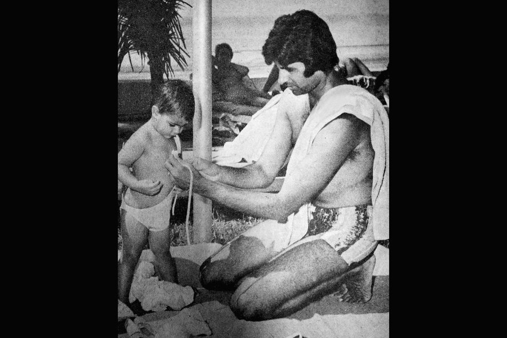 """Actor Amitabh Bachchan often expresses love for his daughter Shweta Bachchan on social media but this time she found his post """"so embarrassing"""". Amitabh on Thursday took to Instagram and shared a throwback picture in which he is seen fixing baby Shwe - Amitabh Bachchan and Shweta Bachchan"""