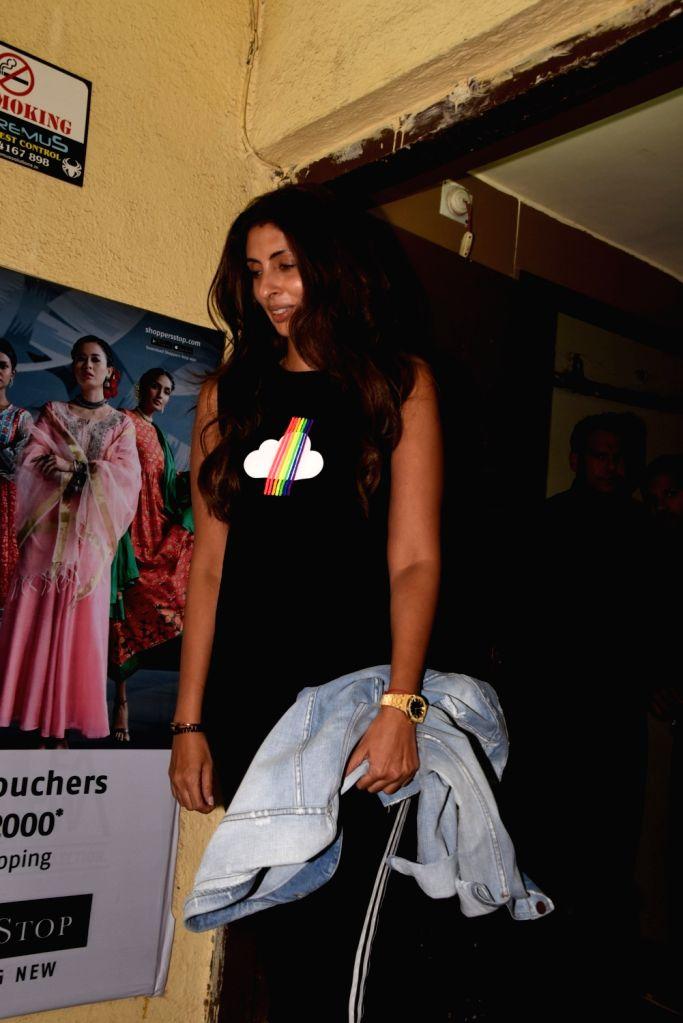 """Actor Amitabh Bachchan's daughter Shweta Bachchan Nanda at the screening of the upcoming film """"Kalank"""", in Mumbai on April 14, 2019. - Amitabh Bachchan and Shweta Bachchan Nanda"""