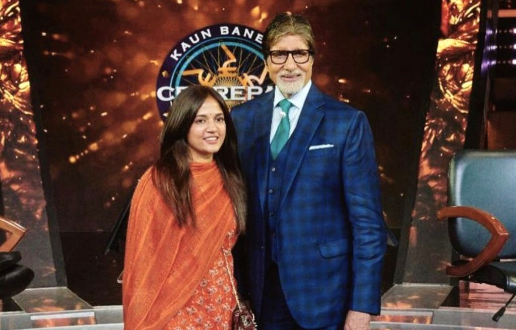 Actor Amitabh Bachchan with stylist Priya Patil. - Amitabh Bachchan and Priya Patil