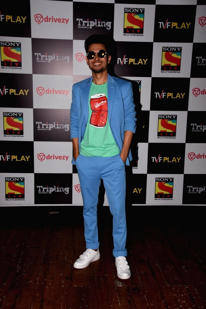 Actor Amol Parashar at the launch of the second season of his upcoming web series 'Tripling' in Mumbai, on March 14 2019. - Amol Parashar