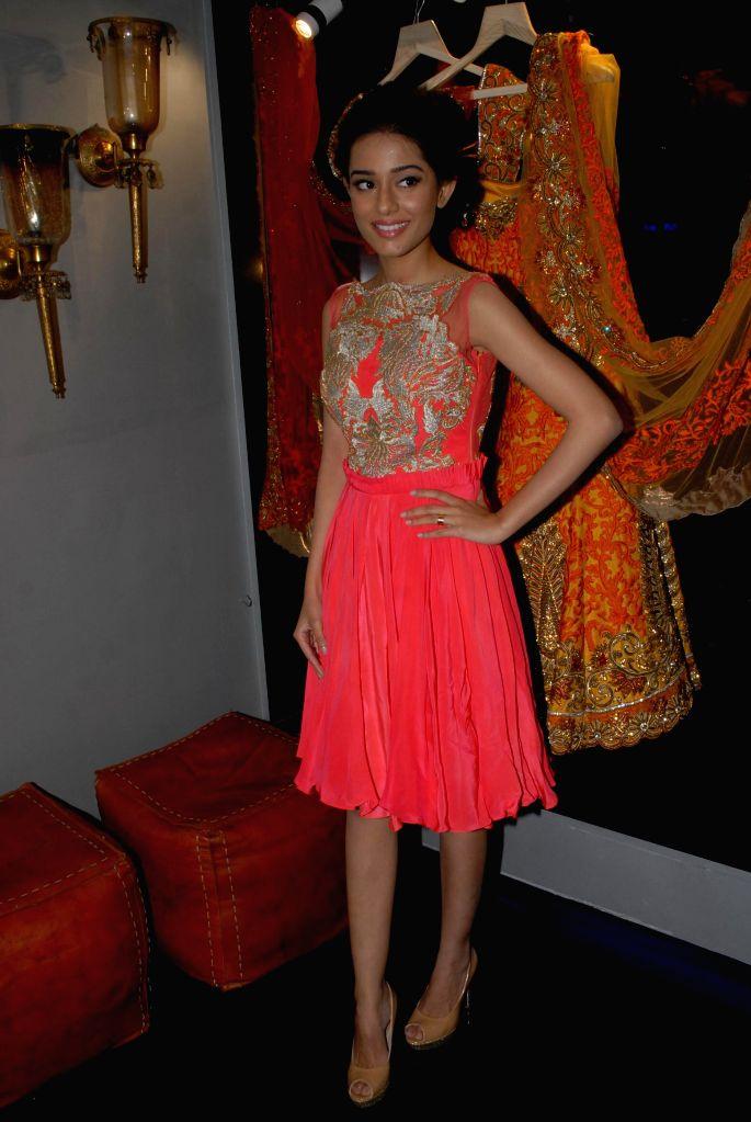 Actor Amrita Rao during the store opening of designer Mayyur Girotra in Mumbai, on April 18, 2014. - Amrita Rao