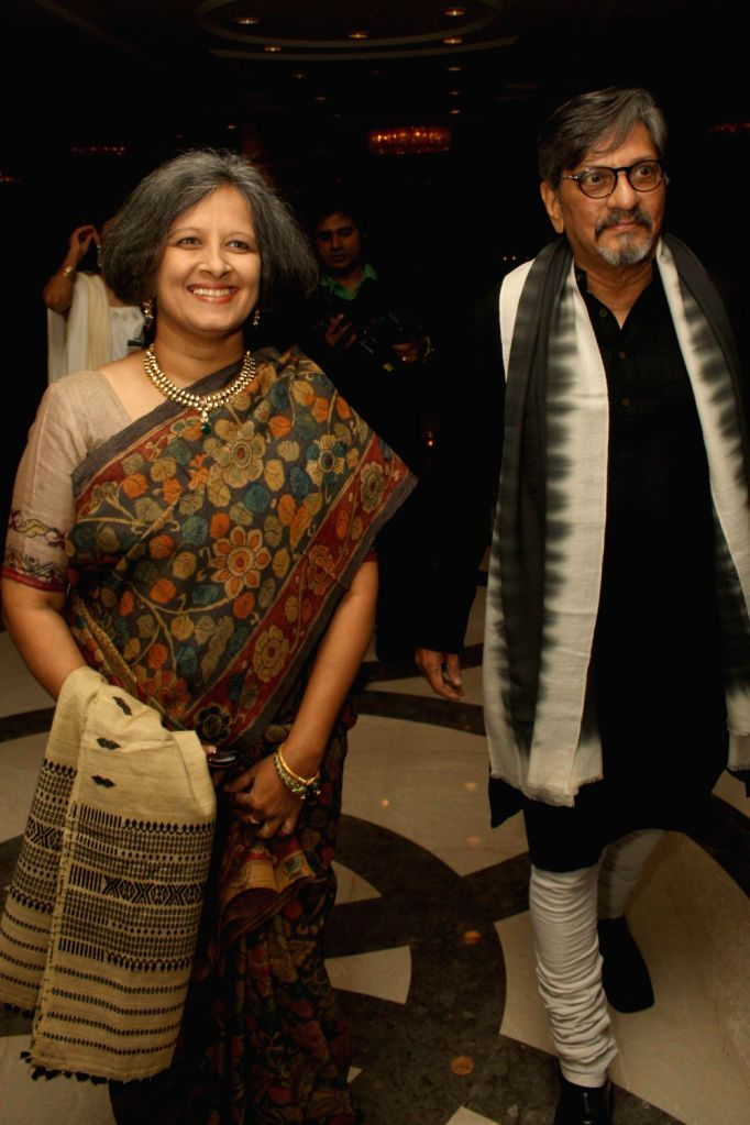 Actor and filmmaker Amol Palekar along with wife Sandhya Gokhale during The CNN-IBN Indian of the Year awards function, in New delhi on December 20, 2013.