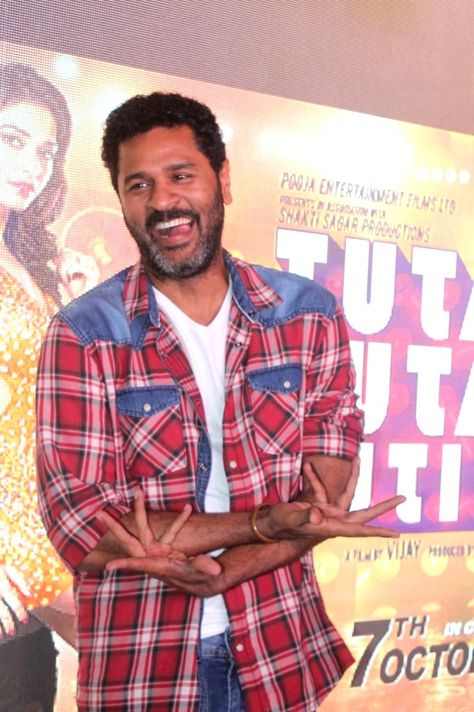 Actor and filmmaker Prabhu Deva during the song preview of Tutak Tutak Tutiya in Mumbai on Sept 19, 2016.