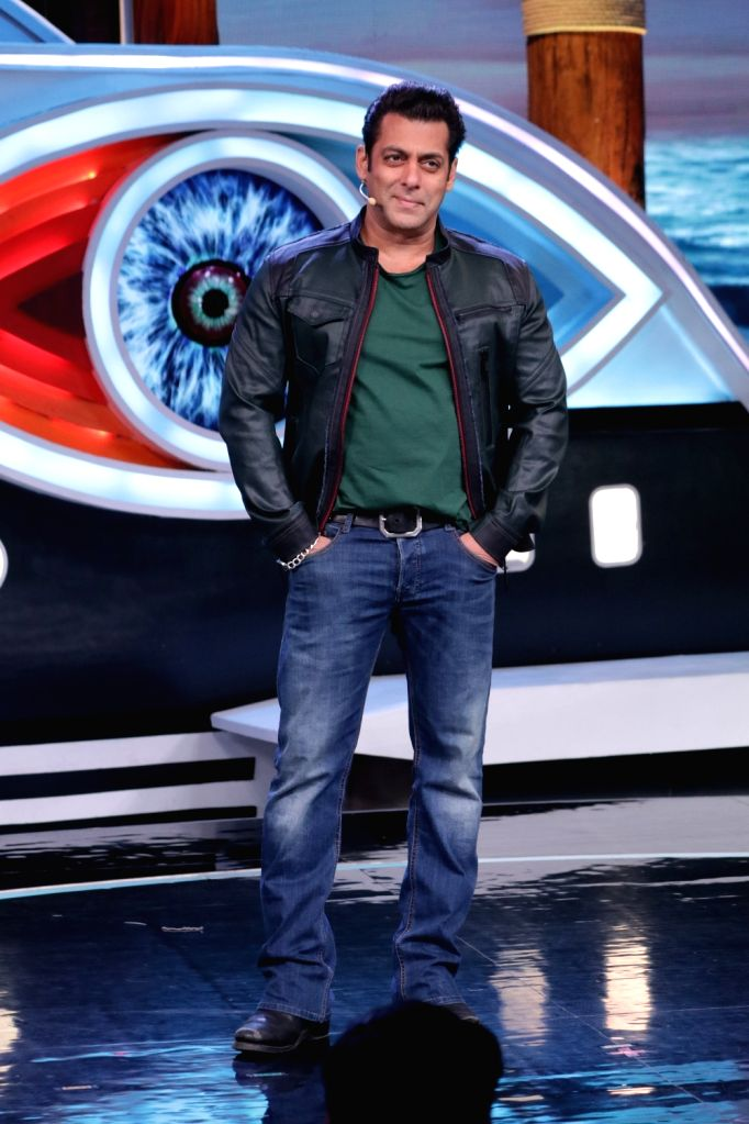 Actor and reality television show Big Boss Season 12 host Salman Khan on the sets of the show's 'Weekend Ka Vaar' episode in Mumbai on Nov 17, 2018. - Salman Khan