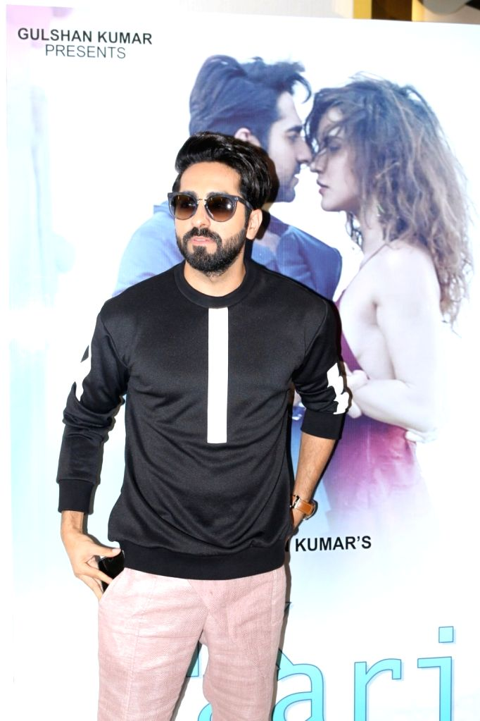 Actor and singer Ayushmann Khurrana during the launch of song `Ik Vaari`, in Mumbai on Sept 22, 2016.