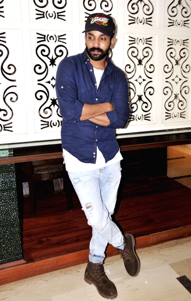 "Actor and singer Dilpreet Dhillon during a press conference to promote his upcoming Punjabi film ""Great Sardaar"" in Amritsar on June 23, 2017."