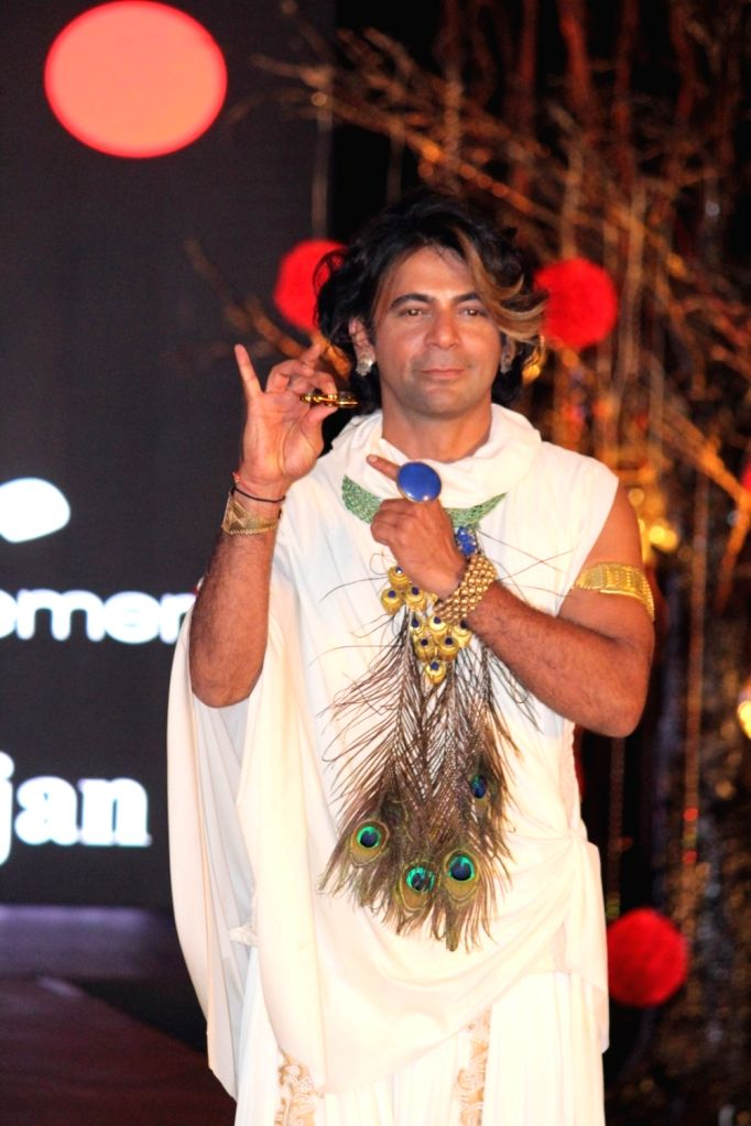 "Actor and stand-up comedian Sunil Grover during the Chairity ""Be with Beti"" Fashion Show in Mumbai, on June 25, 2017."