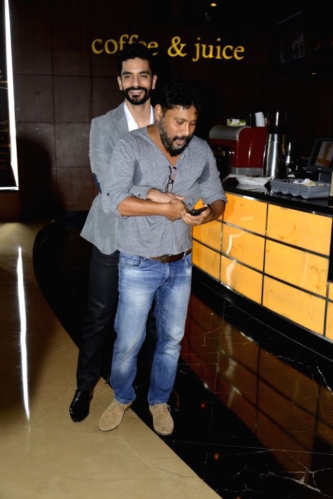 Actor Angad Bedi and filmmaker Shoojit Sircar during the press conference of the film Pink in Mumbai on Sept. 19, 2016. - Angad Bedi