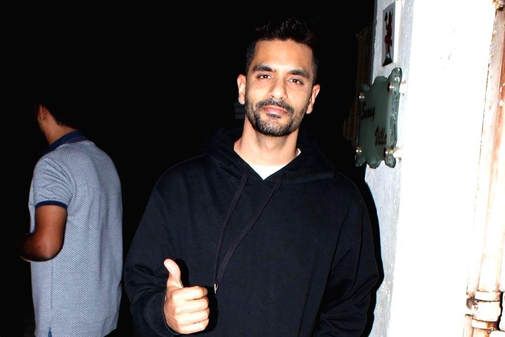 "Actor Angad Bedi at the screening of upcoming film ""Kesari"" in Mumbai, on March 31, 2019. - Angad Bedi"
