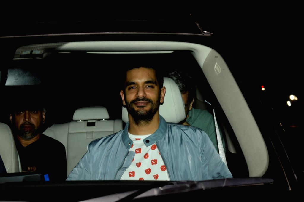 """Actor Angad Bedi at the special screening of upcoming film """"Soorma"""" in Mumbai on July 11, 2018. - Angad Bedi"""