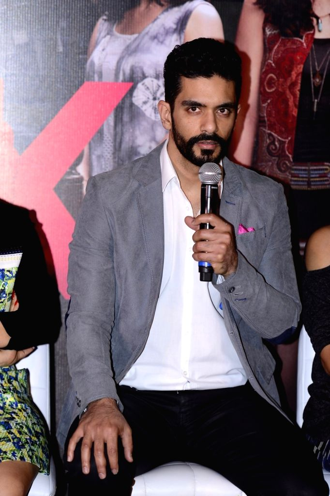 Actor Angad Bedi during the press conference of the film Pink in Mumbai on Sept. 19, 2016. - Angad Bedi