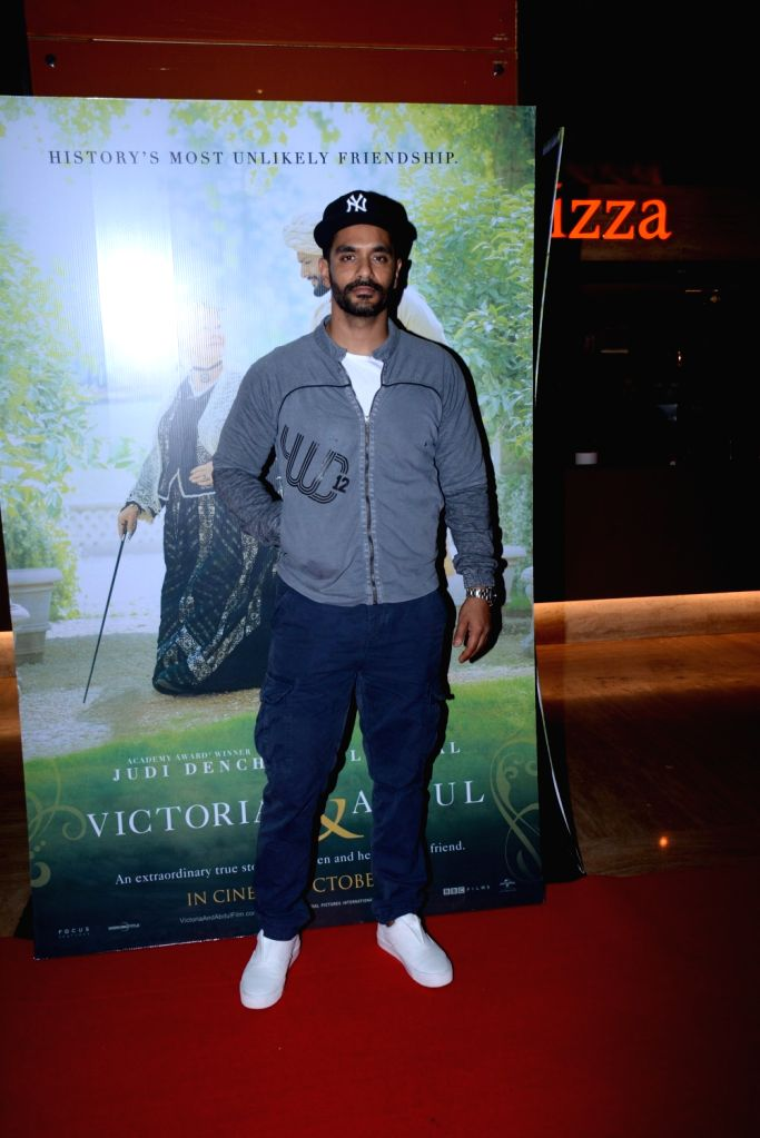 "Actor Angad Bedi during the special screening of film ""Victoria & Abdul"" in Mumbai on Oct 5, 2017. - Angad Bedi"